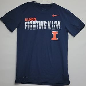 Men Nike Dri-Fit Illinois Fighting  Illini Shirt